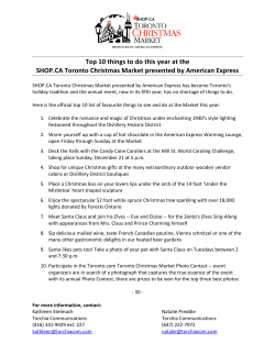 Top 10 things to do this year at the SHOP.CA Toronto Christmas