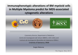 Immunophenotypic alterations of BM myeloid cells in Multiple