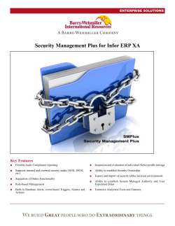 Security Management Plus for Infor ERP XA - Barry
