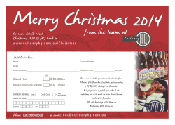 CULINARY HQ christmas 2014 order form A5.cdr