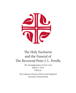 The Holy Eucharist and the Funeral of The Reverend Peter J. L.