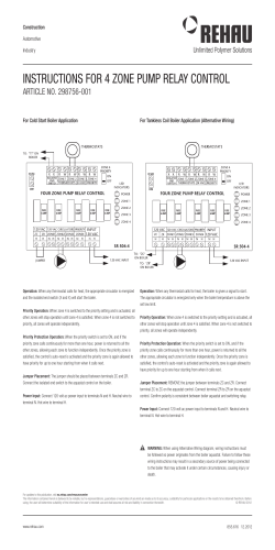 4-Zone Pump Relay Control Product Instructions