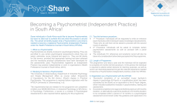Becoming a Psychometrist (Independent Practice) in