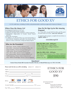 90 ethics for good xv - Kansas Bar Association
