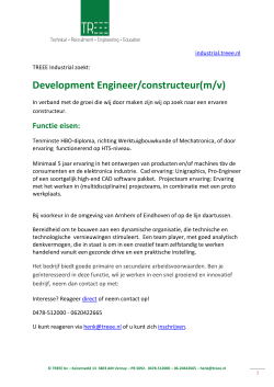 Development Engineer/constructeur(m/v)