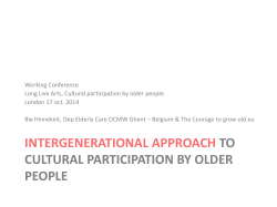 Intergenerational approach to cultural participation by older people