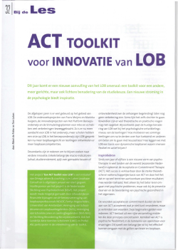 ACT TOOLKIT - ACT in LOB
