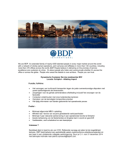 We are BDP. An extended family of nearly 4000 talented