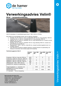 Verwerkingsadvies Velin ® Download