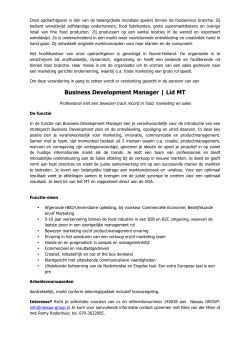 Business Development Manager | Lid MT