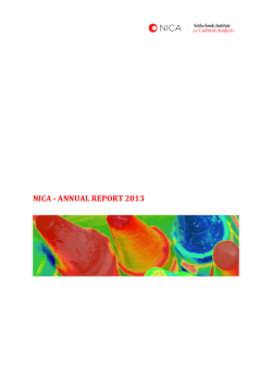 nica - annual report 2013 - Netherlands Institute for Cultural Analysis