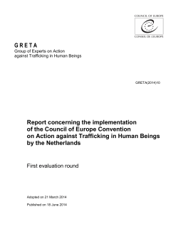 G R E T A Report concerning the implementation of the Council of
