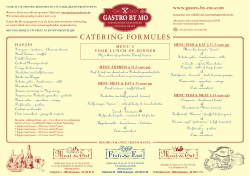 CATERING FORMULES