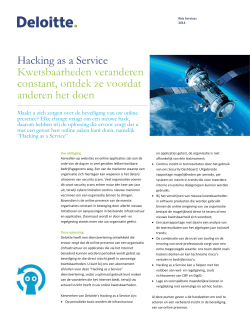 Hacking as a Service Kwetsbaarheden - Deloitte