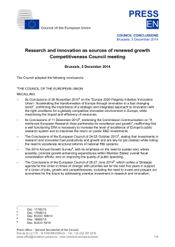 Council conclusions on research and innovation as