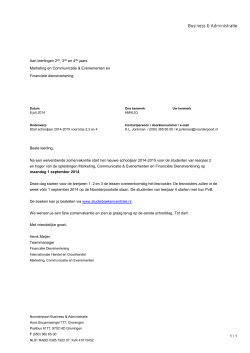 site brief start schooljaar klas 2-3-4 MCE + FD