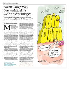 Accountancy weet best wat big data wel en niet
