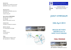 JOINT SYMPOSIUM 24th April 2014 - BVN