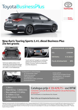 Auris TS 1.4_Comfort_BusinessPlus_NL.pub