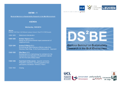 Doctoral Seminar on Sustainability Research in the Built Environment