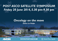 Post AsCo sAtellite symPosium