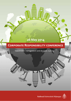 26 May 2014 Corporate Responsibility conference