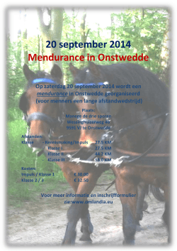 20 september 2014 Mendurance in Onstwedde