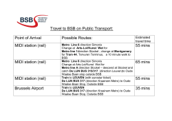Travel to BSB on Public Transport: Point of Arrival Possible