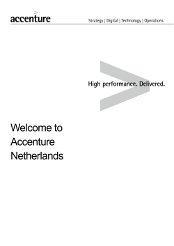 Welcome to Accenture Netherlands