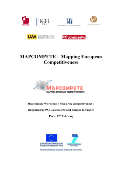 MAPCOMPETE – Mapping European Competitiveness