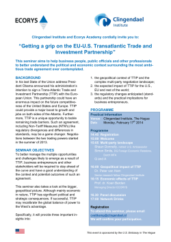 EU-U.S. Transatlantic Trade and Investment Partnership