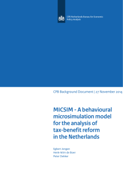 MICSIM - A behavioural microsimulation model for the analysis of