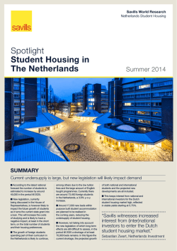 Spotlight Student Housing in The Netherlands