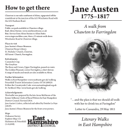 Chawton Jane Austen Literary walk
