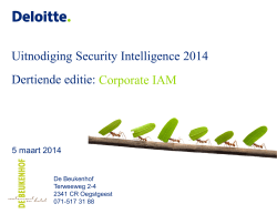 Uitnodiging Security Intelligence 2014 Dertiende editie