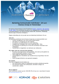 Marketing Communicatie Coördinator (24 uur) Claresco