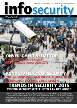 TRENDS IN SECURITY 2015 - Infosecurity Magazine