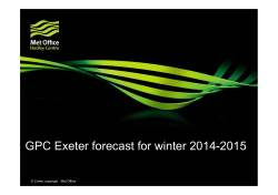 GPC Exeter forecast for winter 2014-2015 - MedCOF-3
