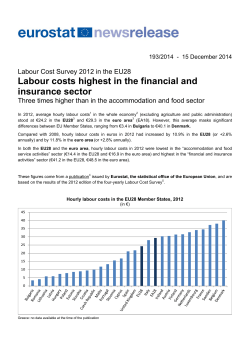 Labour costs highest in the financial and insurance sector