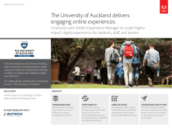 The University of Auckland delivers engaging online