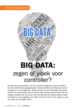 Big-data: vloek of zegen voor de Controller