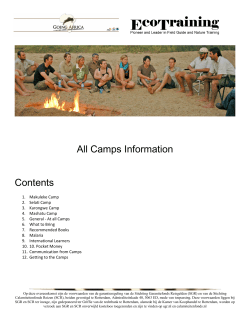 All Camps Information Contents