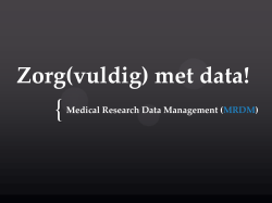 Michaël Stekkinger - Medical Research Data Management
