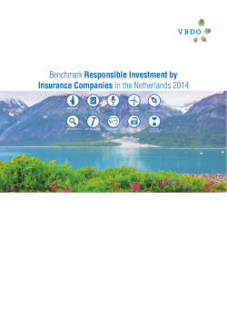 Benchmark Responsible Investment by Insurance