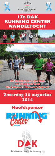 17e DAK RUNNING CENTER WANDELTOCHT