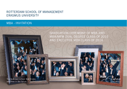 mba - inviTaTion GRaDUaTion CEREmonY of mba anD mba/mfm