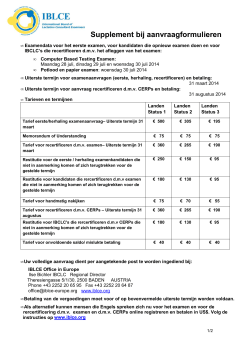 Application Supplement and Payment Form_dutch 2014