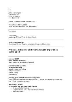Projects, initiatives and relevant work experience 1990