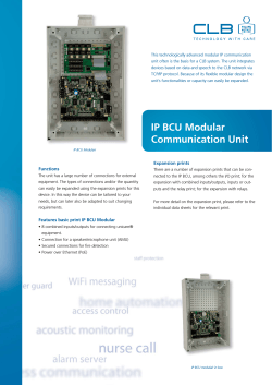 IP BCU Modular Communication Unit