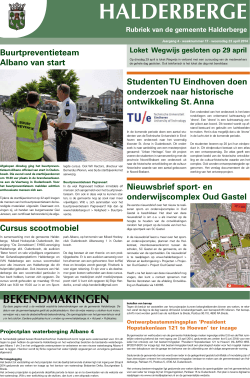 Publicaties Halderbergse Bode, 23 april 2014